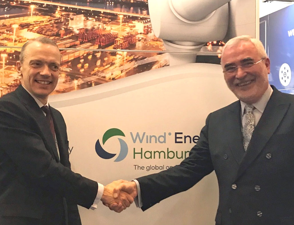 Giles Dickson, Chief Executive Officer WindEurope and Bernd Aufderheide, President and CEO Hamburg Messe und Congress